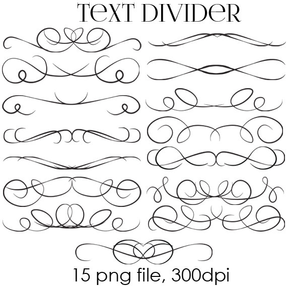 70% OFF SALE Text Dividers Digital Clipart.