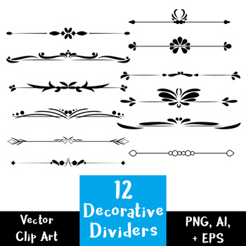 12 Decorative Text Dividers.