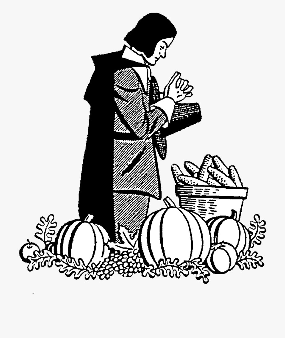 Pilgrim Giving Thanks Clipart.