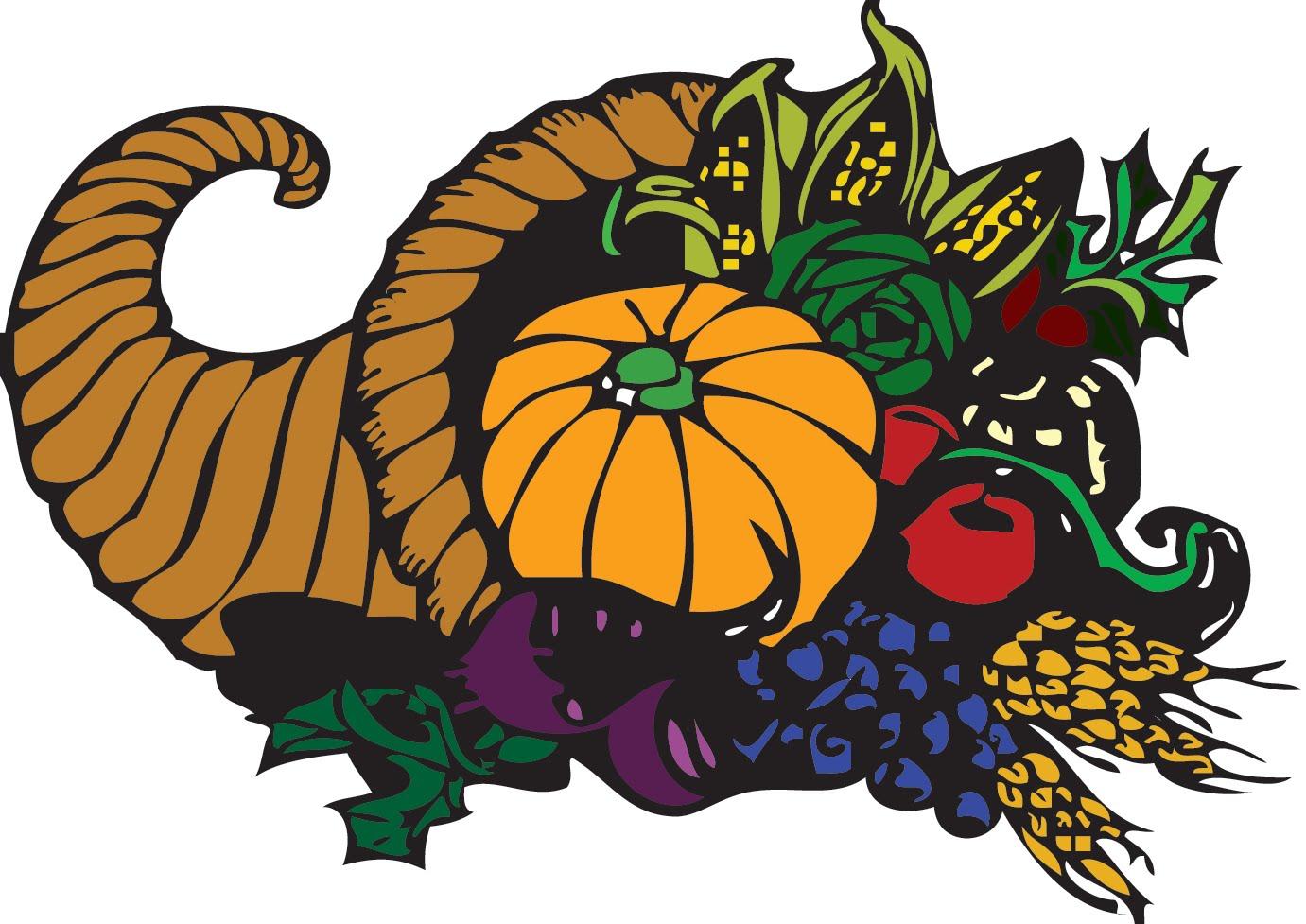 Thanksgiving clip art basket.