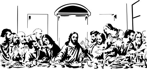 Last supper silhouette.