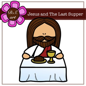 Jesus and The Last Supper Digital Clipart (color and black&white).