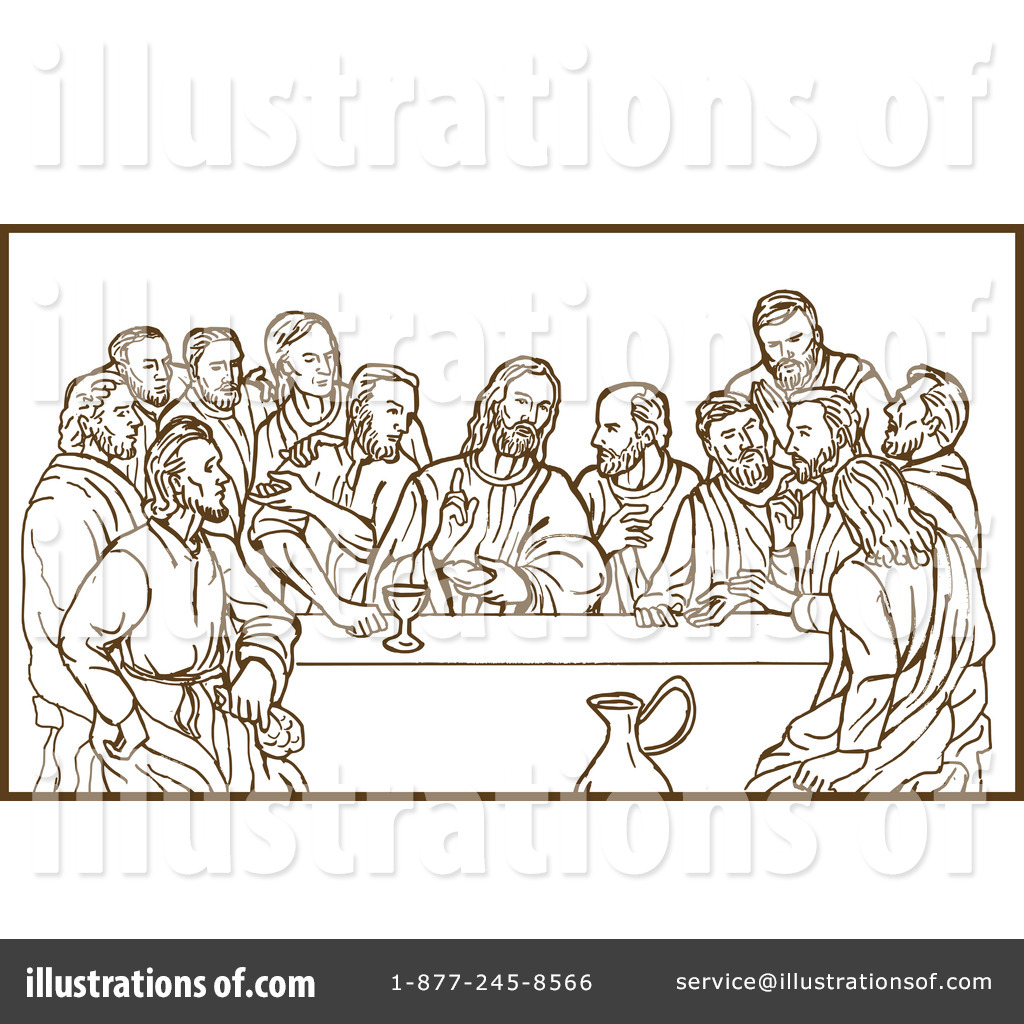 Last Supper Clipart #92030.