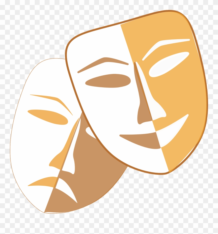 Theatre Masks Clip Art.