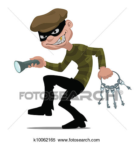 Cartoon thief Clipart.