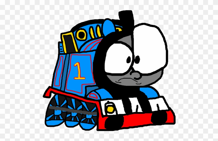 Thomas The Tank Engine Clipart Background.