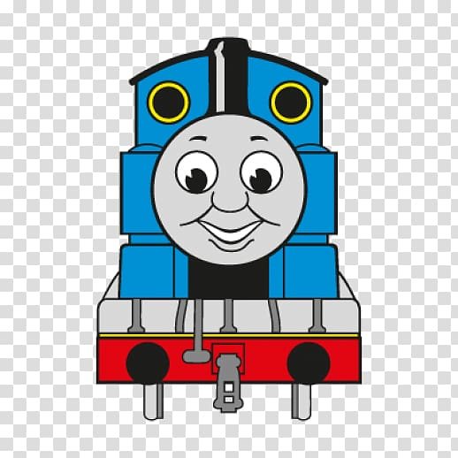 Thomas the Tank Engine illustration, Thomas Train Tank locomotive.
