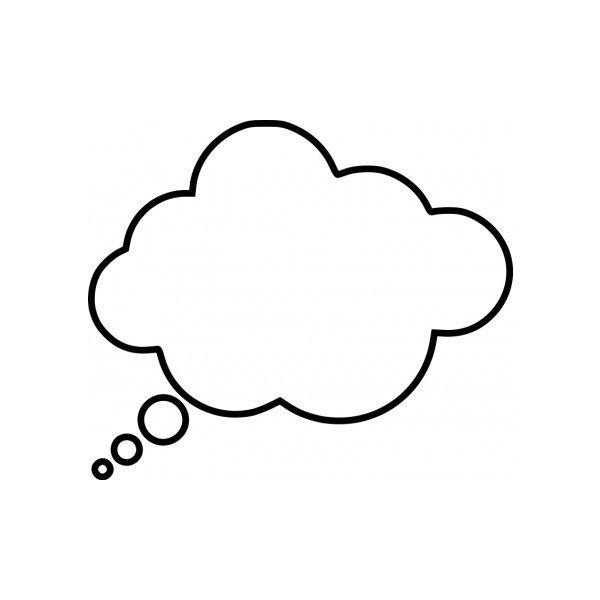 Cartoon thought bubble Vector clip art.