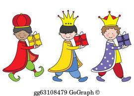 Three Kings Clip Art.