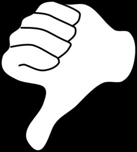 Thumbs Down Clip Art at Clker.com.