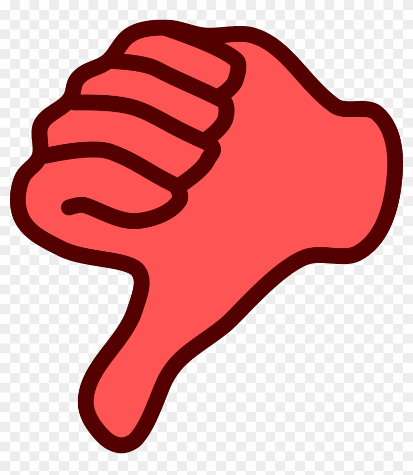 Red Thumbs Down Clip Art.