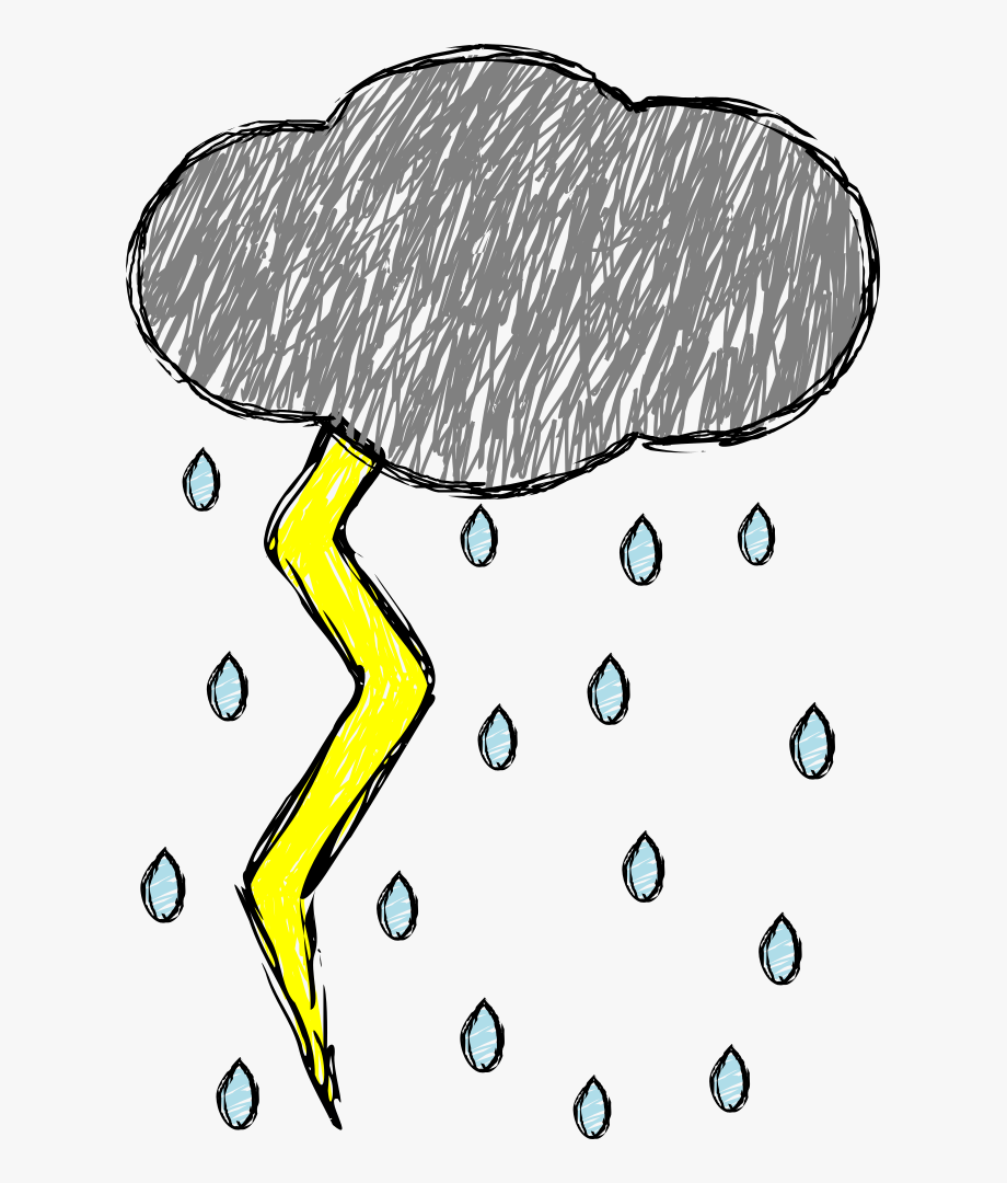 Thunder And Lightning Clipart At Getdrawings.