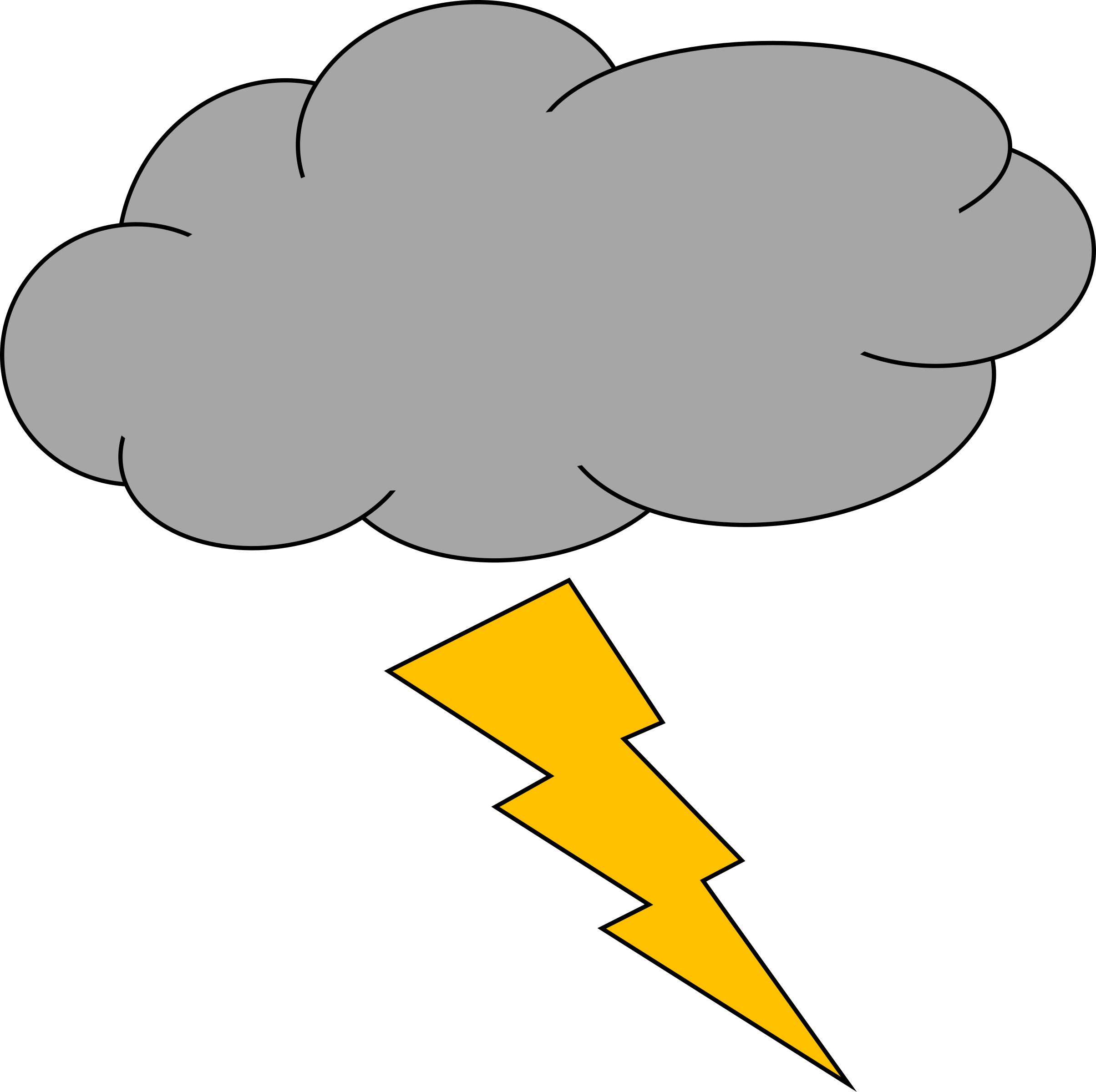 Lightning Thunder And Clipart Transparent Png 2.