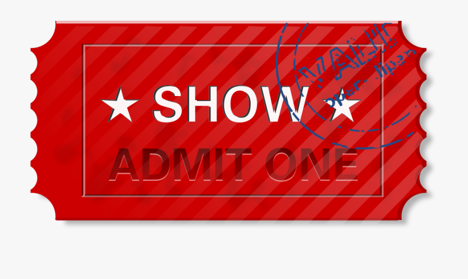 Ticket Clipart Vector Clip Art Free Design.