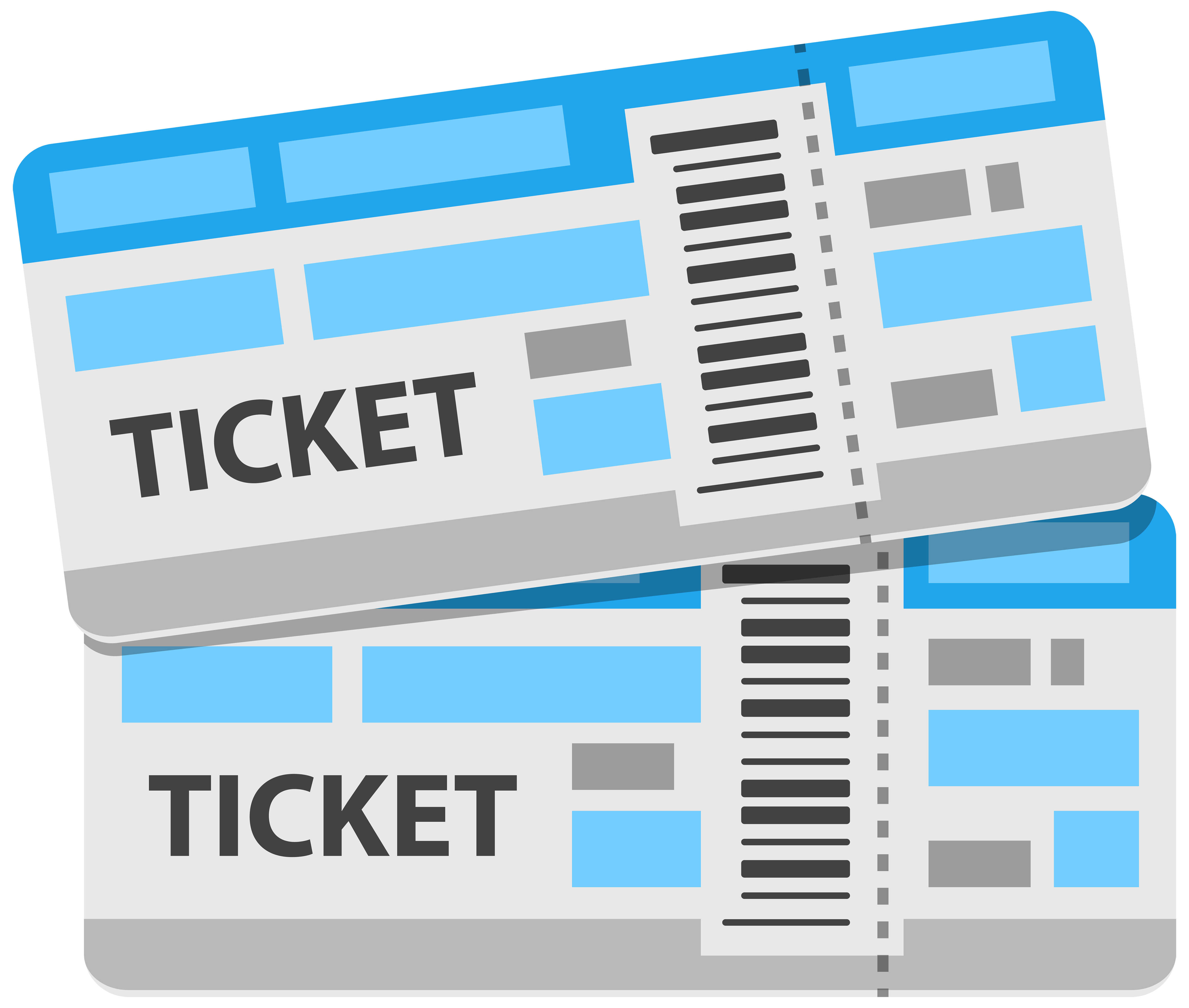Tickets PNG Clipart Image.