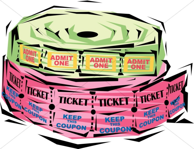 Festive Ticket Rolls.