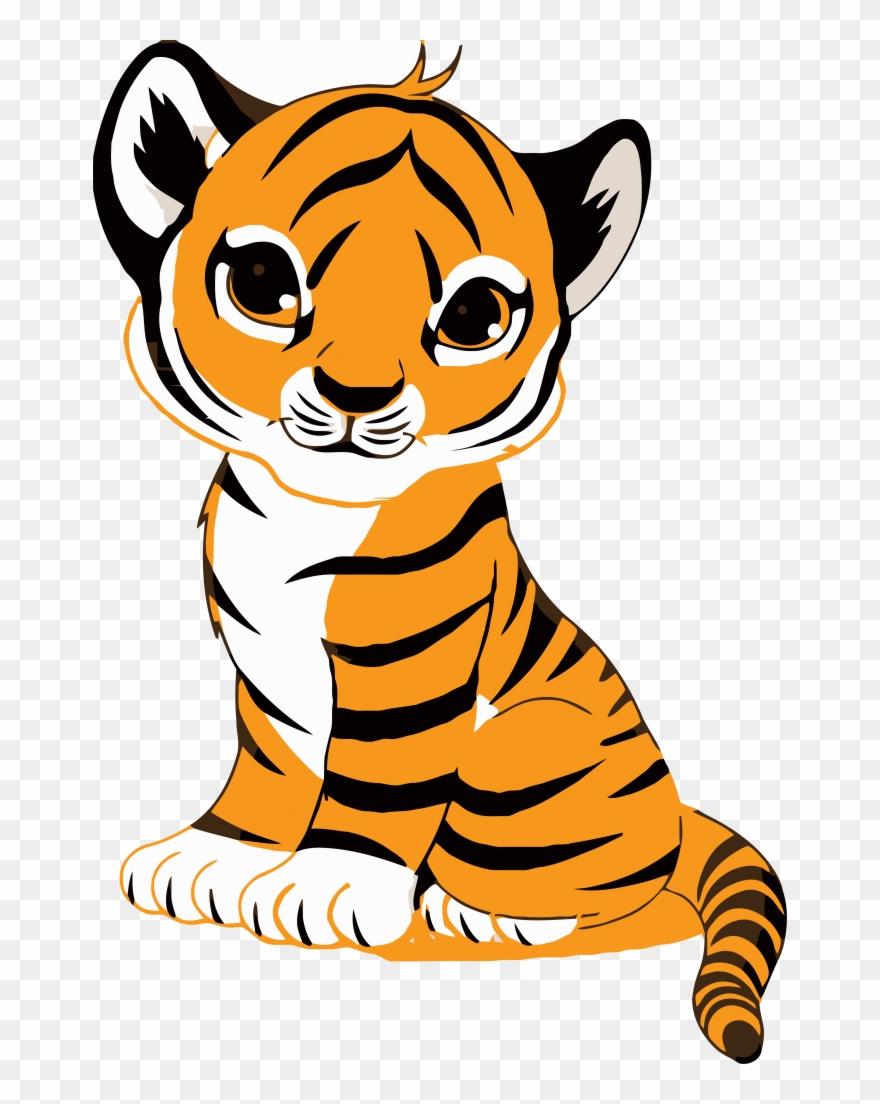 Tiger Face Clip Art Royalty Free Tiger Illustration.