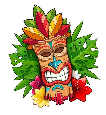 1,233 Tiki Mask Stock Illustrations, Cliparts And Royalty Free Tiki.