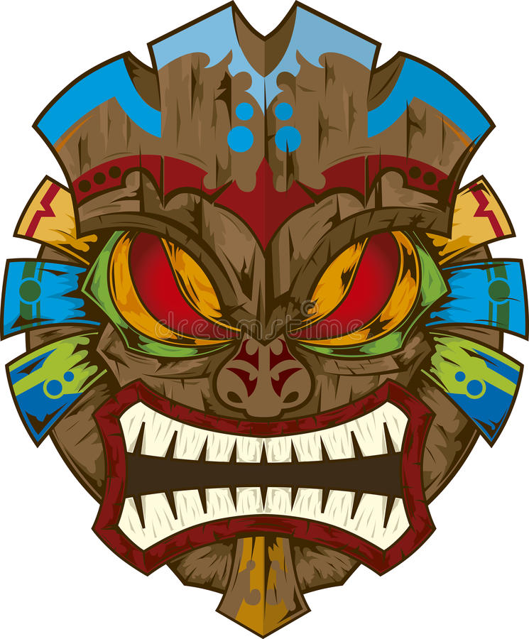 Tiki Mask Stock Illustrations.