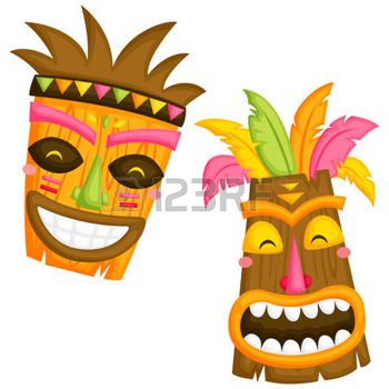 tiki masks: Luau Mask.