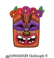 Royalty Free Tiki Mask Clip Art.