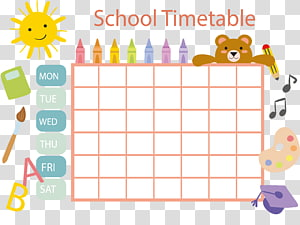 Timetable transparent background PNG cliparts free download.