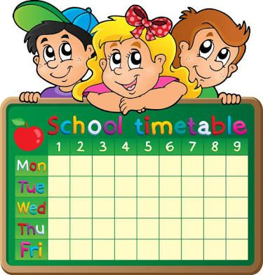Image result for designs for time table charts.