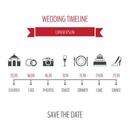 469 Wedding Timeline Stock Vector Illustration And Royalty Free.