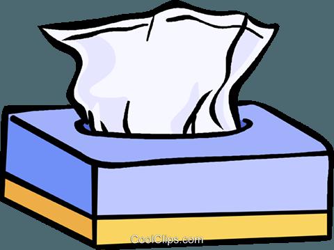 box of tissues Royalty Free Vector Clip Art illustration.