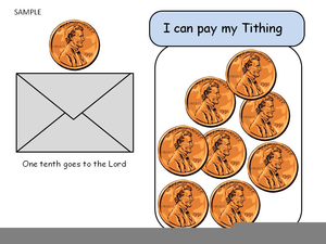 Lds Primary Clipart Tithing.