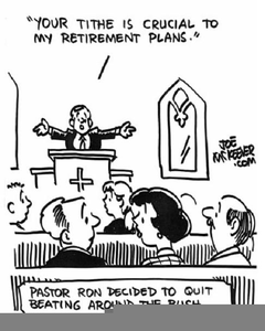 Paying Tithing Clipart.