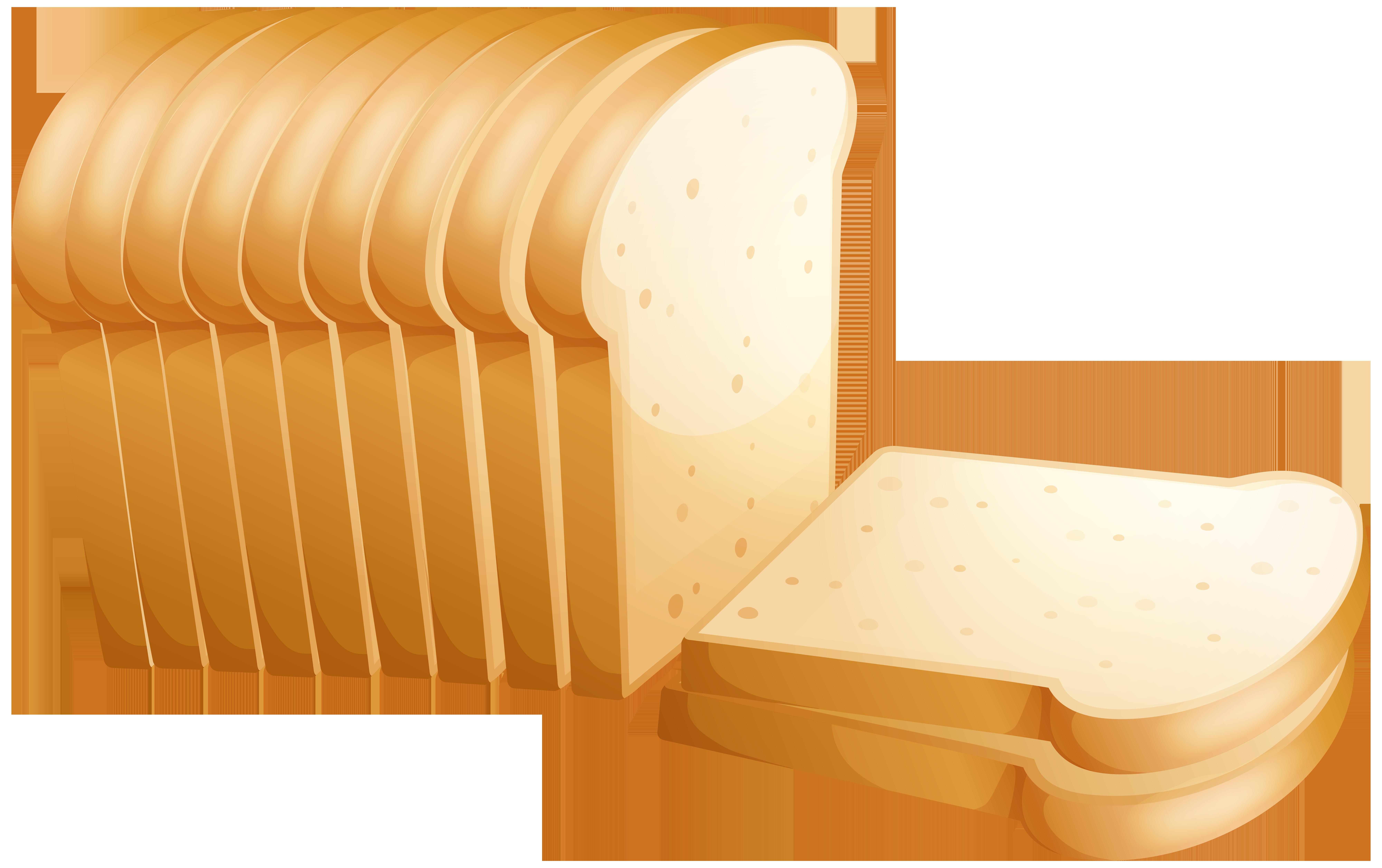 Toast Bread PNG Clip Art.