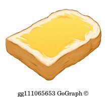 Toast Bread Clip Art.