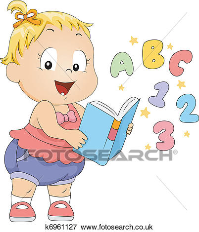 Toddler Book Clip Art.