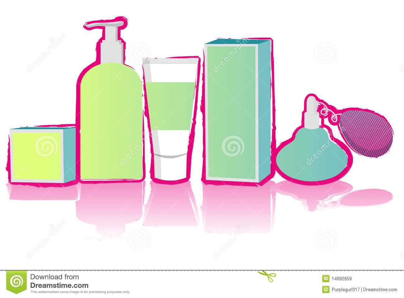 Toiletries stock illustration. Illustration of treatment.