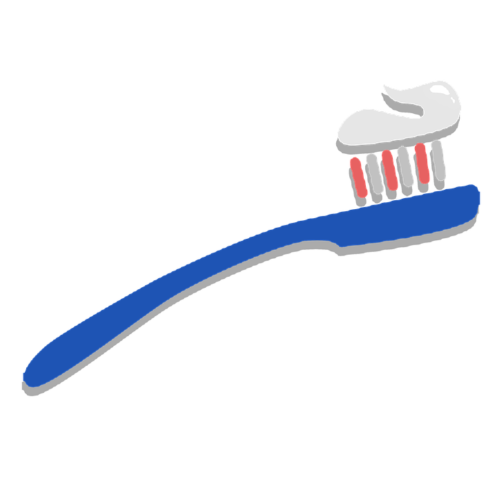 Toothbrush Clipart Sticker.