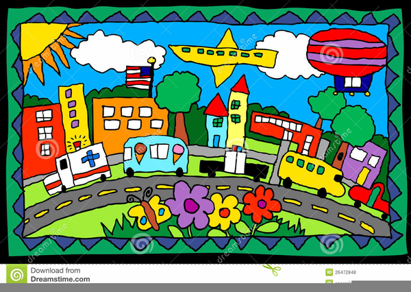 Places In Town Clipart.