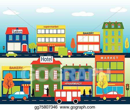 Town Clipart business building 1.