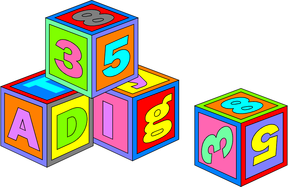 Free Stock Photo: Illustration of colorful toy blocks.