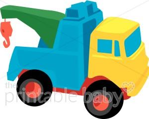 Crane Toy Truck Clipart.