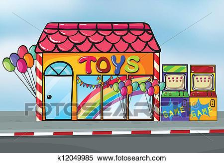 A toy shop Clipart.