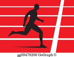 Running Track Clip Art.