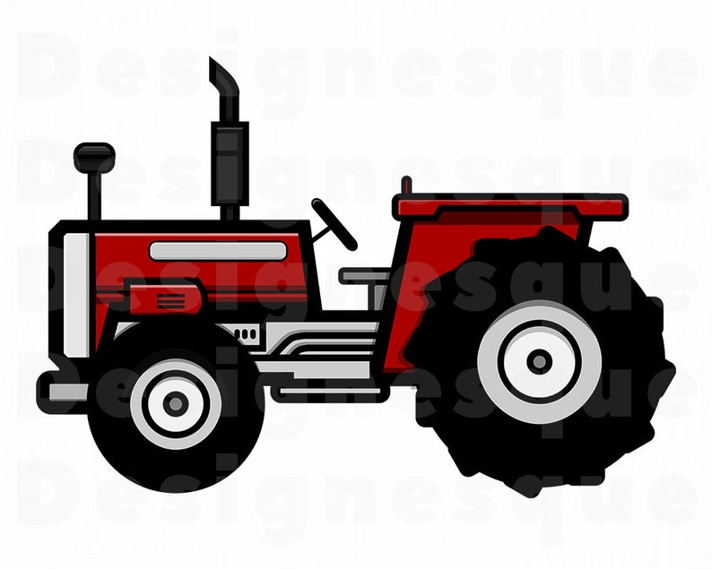 Tractor #2 SVG, Farm Tractor SVG, Tractor Clipart, Tractor Files for  Cricut, Tractor Cut Files For Silhouette, Dxf, Png, Eps, Tractor SVG.