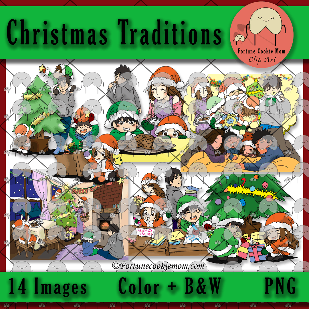 Christmas Traditions Clipart.