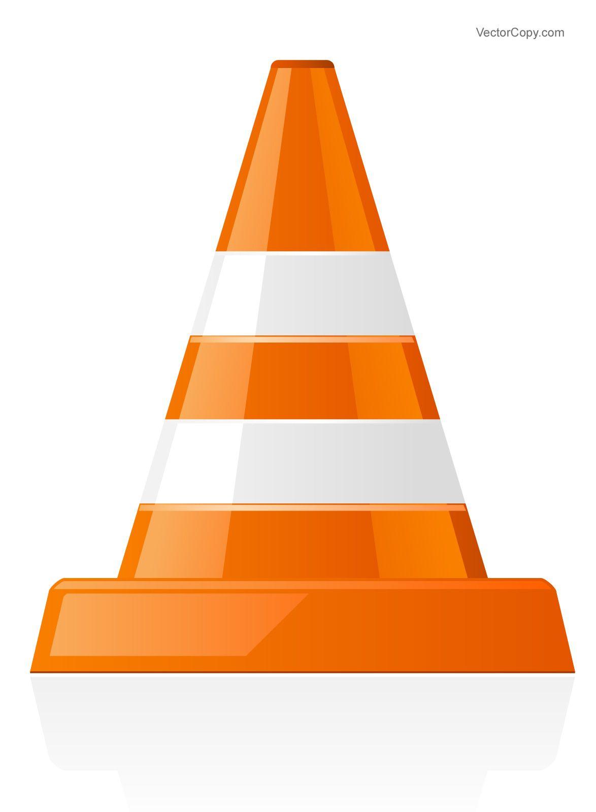 Traffic cone icon, free vector.