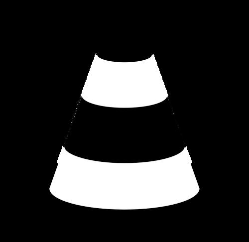 Traffic cone icon.