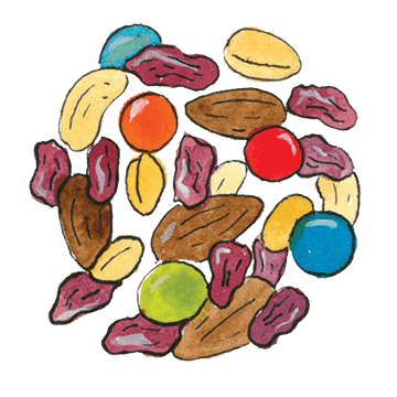 4 Healthy Trail Mix Combinations.
