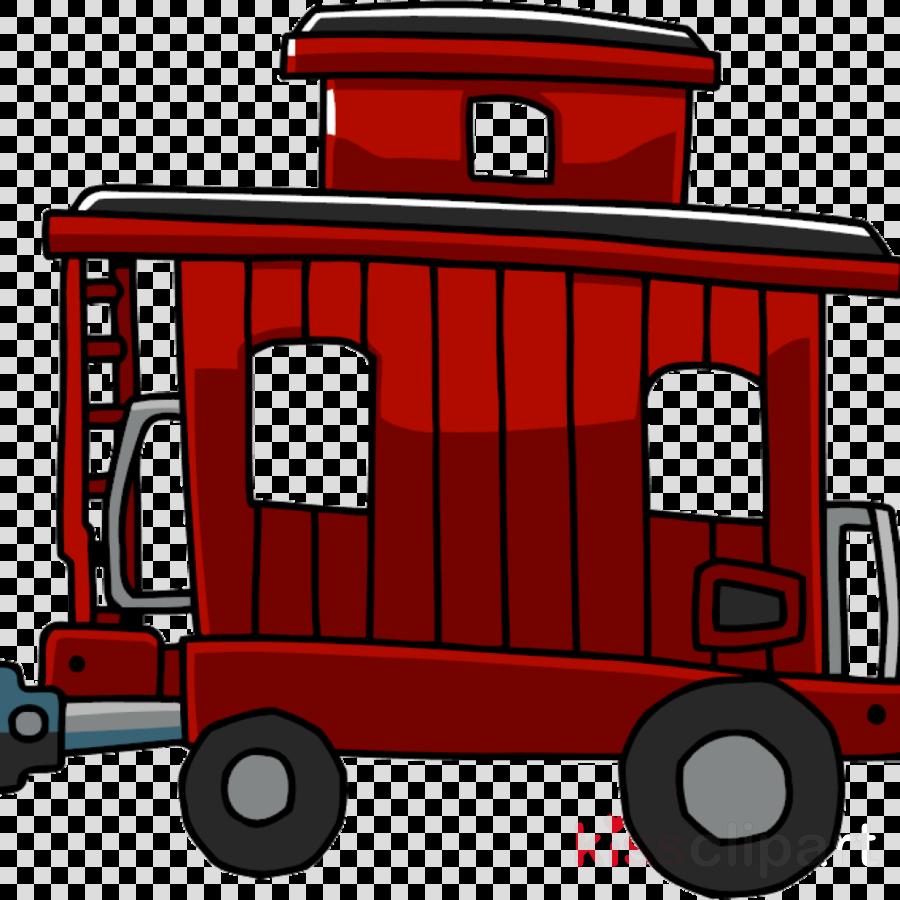 Rail Transport, Caboose, Train, transparent png image & clipart free.