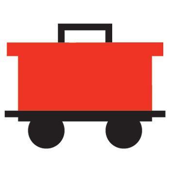 Caboose train silhouettes vectors clipart svg templates.