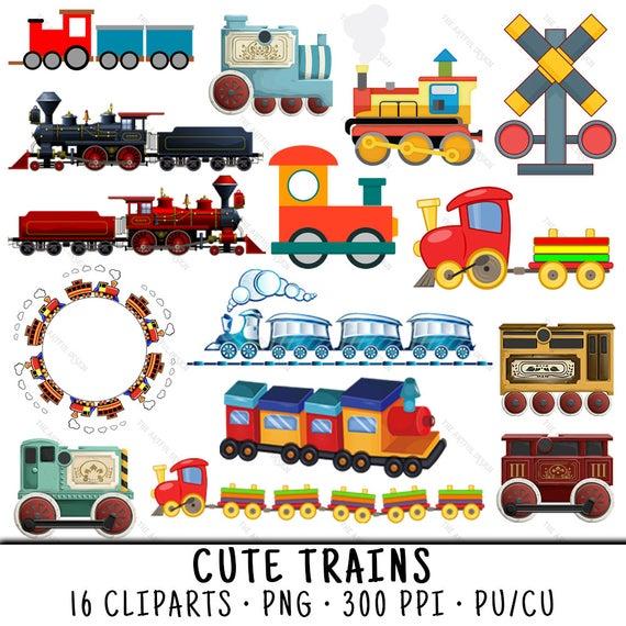 Train Clipart, Cute Train Clipart, Train Clip Art, Cute Train Clip Art,  Cute Train PNG, Clipart Train, PNG Cute Train, Cute Trains.